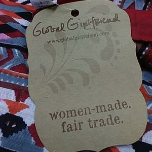 Global Girlfriend Accessories - Tribal Tassel Scarf 40 inch Square NWT